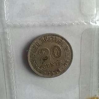 Malaya coins 1954 & 1961