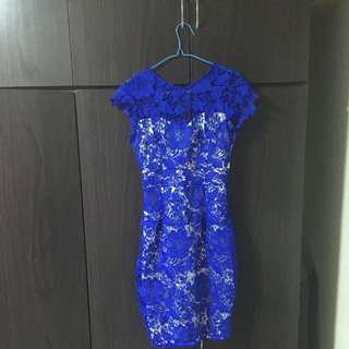 Blue Party Lacey Dress