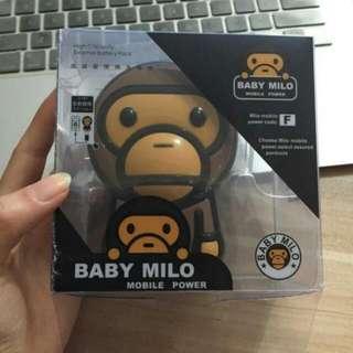 日本原裝 潮牌 BabyMilo 10000mAh 大嘴猴 行動電源(咖啡色)