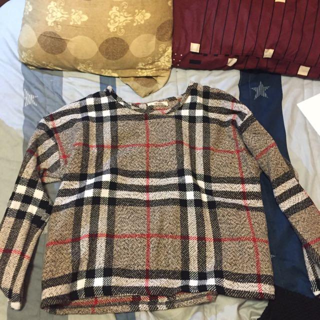 英倫風格子毛衣