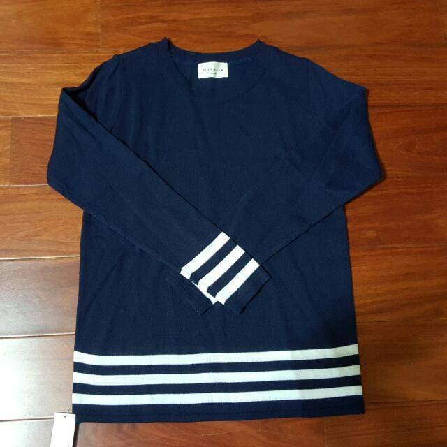 👉韓製-針織橫條上衣(非韓版)