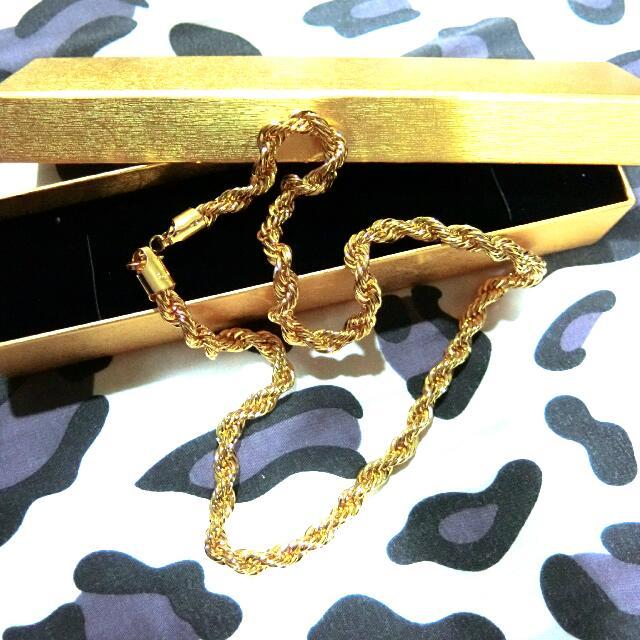 頂級仿金麻花項鍊