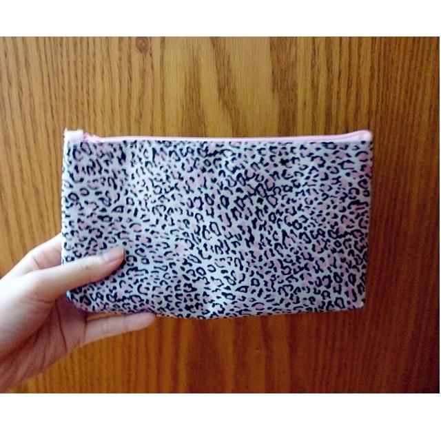 粉紅豹紋化妝包