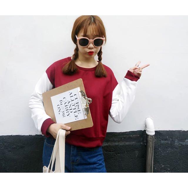 ✨韓國百搭撞色衣