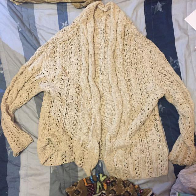針織毛外衫 粗線織