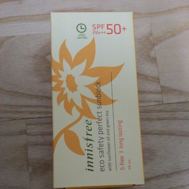 (全新) innisfree自然關愛日常防曬霜SPF50PA+++