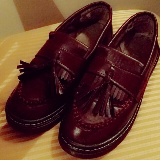 Beautiful Wine red boat shoes