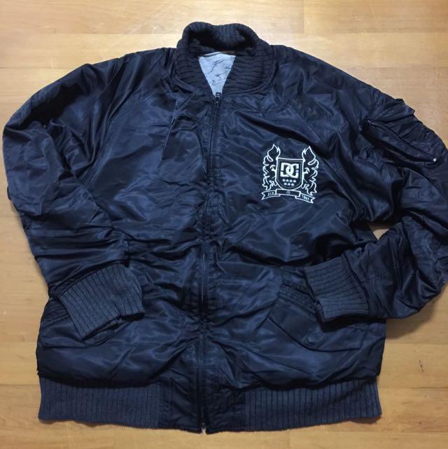 DC 經典棒球全黑迷彩外套 可以雙面穿 嘻哈潮流必備