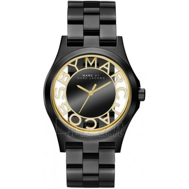 (預購)MARC BY MARC JACOBS 焦點透視雙面鏤空腕錶-黑/4mm