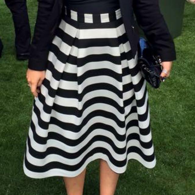 Nicholas Full Stripe Skirt