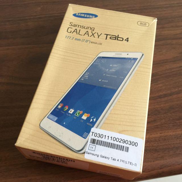 二手Samsung Galaxy Tab4 7.0 LTE 平板手機