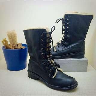 🚚 ALDO羊毛真皮個性中筒靴(全新)個性靴/中筒靴/雪靴/ALDO鞋