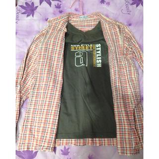[9成新]假兩件式休閒襯衫 秋冬款是 中性 M尺寸