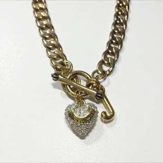 Sold Out!🌟正品 二手 Juicy Couture 愛心 鑽 項鍊 金 經典款