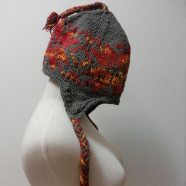 尼泊爾100%純羊毛手織帽 (全新) 男女皆宜