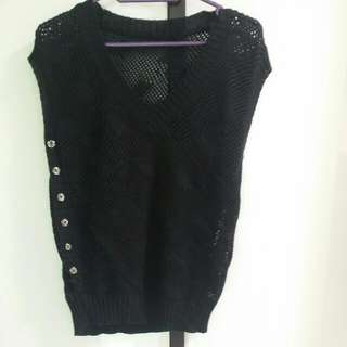 S/M/L - Black Knitted Outer Wear
