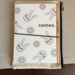 Cantwo 筆記本組(付袋子)