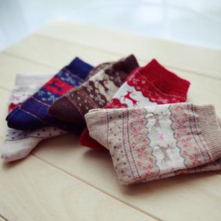 🐑 冬季小鹿森系襪子 🐑