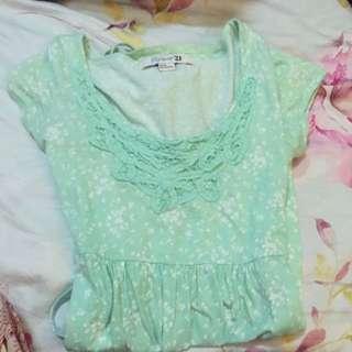 Mint Green F21 Dress
