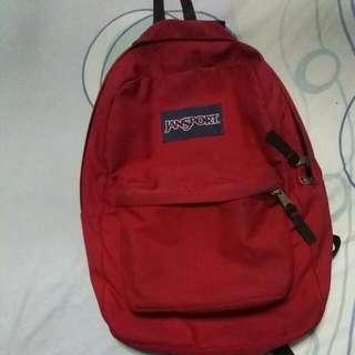 Authentic Jansport Superbreak Backpack (Red)