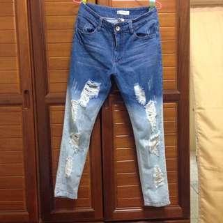 兩色漸層牛仔褲