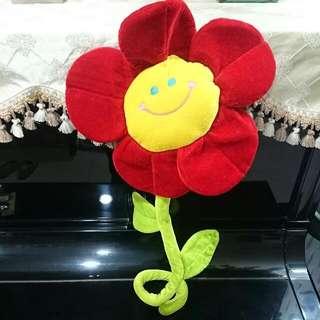 微笑小花  假盆栽裝飾物