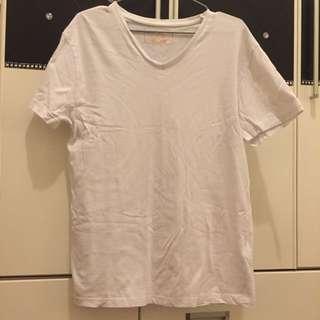 《免運》ZARA男士V領白T恤