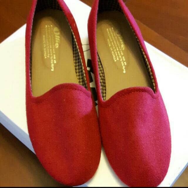 (轉賣)紅色平底鞋,24.5