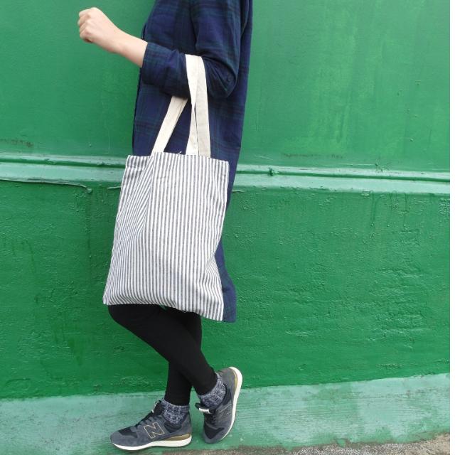 🌊藍白條紋帆布袋