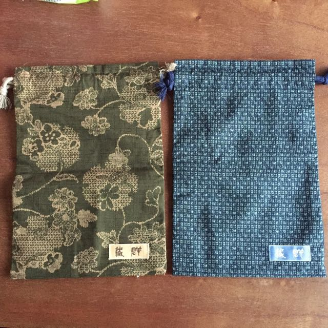 日本製♨️溫泉用巾口袋/束口袋(內層是完全防水)