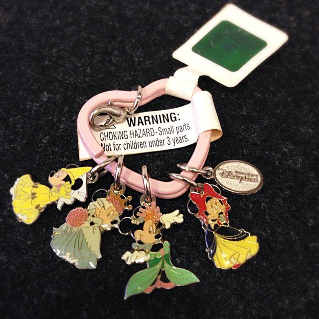 香港迪士尼購入 米妮公主鑰匙圈 迪士尼公主
