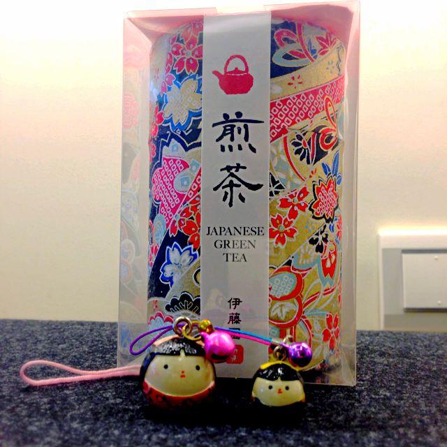 日本帶回  小茶葉罐 和紙款 +迷你日本傳統娃娃(合售)收納 擺設