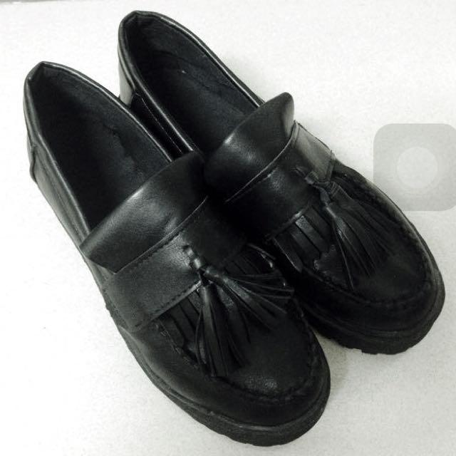 全新 降價 厚底 松糕 流蘇 學生鞋 馬丁 皮鞋