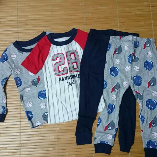 新品 Carter's 男寶 四件組 棒球 居家 睡衣 18m