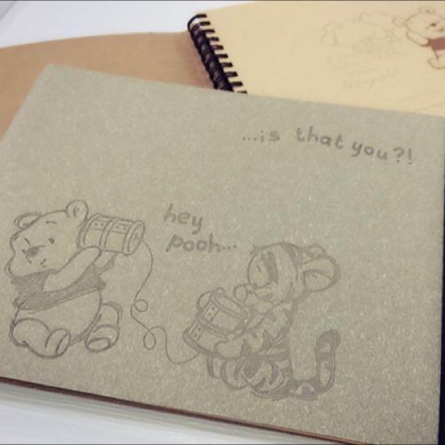正日 迪士尼經典小熊維尼DIY手作本「素面牛皮」