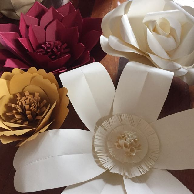Big Paper Flower Red Gold Series Sale Rent
