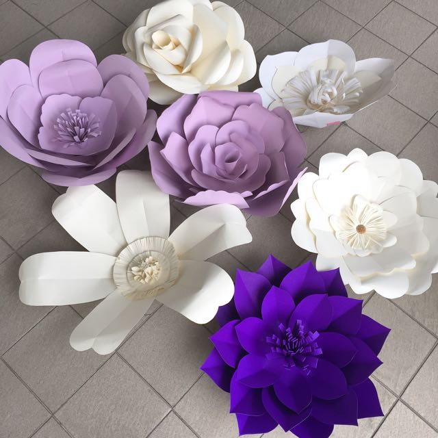 Big Paper Flowers Purple Series Sale Rent