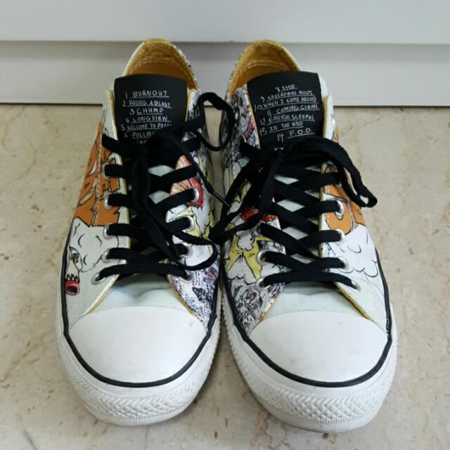 8b7a0cc1cf43 Converse Chuck Taylor GREEN DAY DOOKIE All Star White gold Shoes ...