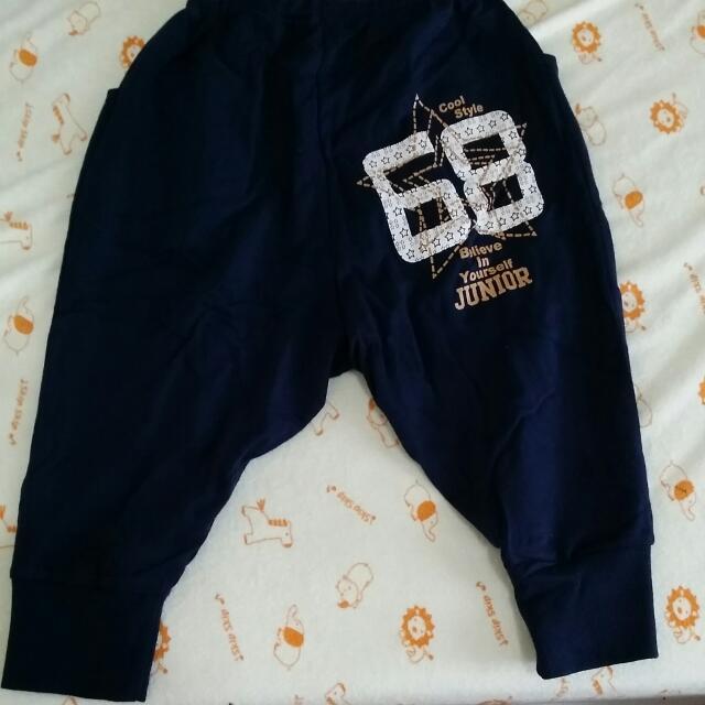 Giordano寶藍棉質薄長褲