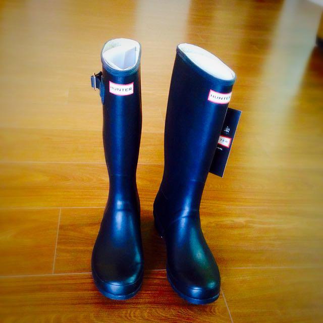 降價! 全新Hunter雨鞋 · 高筒消光黑《免運》