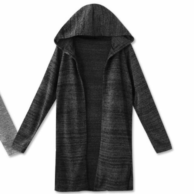 【轉售】MIUSTAR 麻黑 混色織紋連帽針織外套