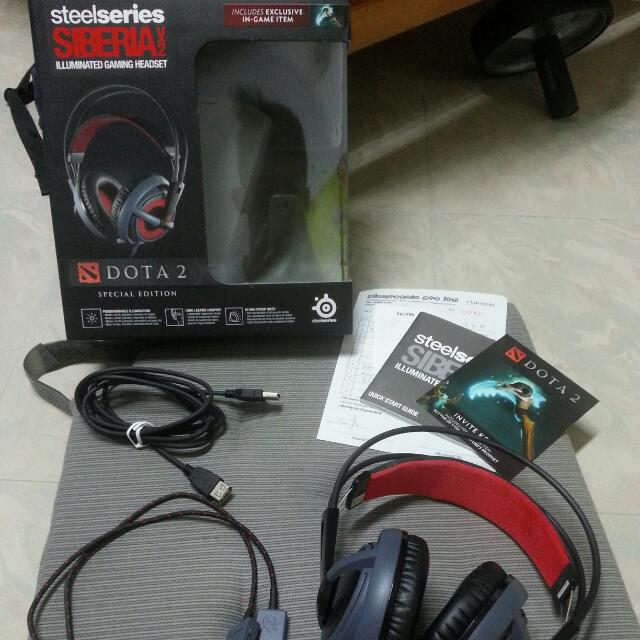 Steelseries Siberia V2 Illuminated Dota 2 Edition Toys Games On Carousell