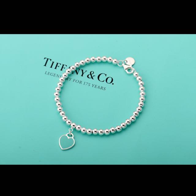 Tiffany粉色心牌手鍊 預購
