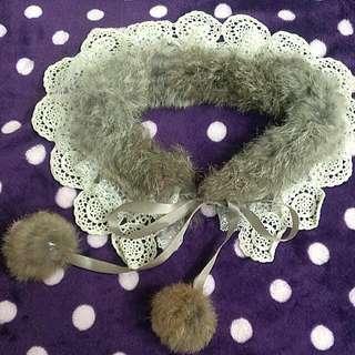 💙毛毛蕾絲領子項鍊💙