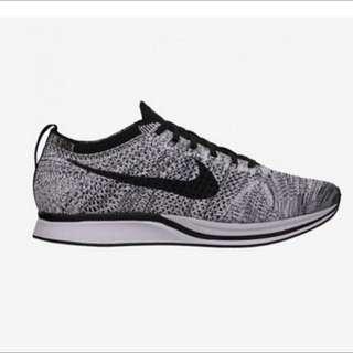 現貨 Nike Flyknit Racer 跑步鞋 編織(針織灰黑勾 )男女鞋款