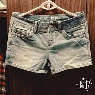 Lativ牛仔短褲