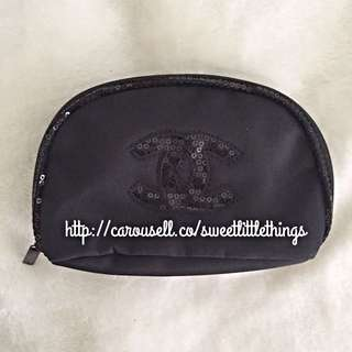 ✅InStock Chanel Sequinned Makeup Pouch Cosmetic Bag Purse