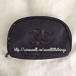 ✅InStock Chanel Sequinned Makeup Pouch Purse Wallet Clutch Cosmetic Bag