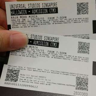 USS Halloween Night 5 Tix For 2 RESERVED