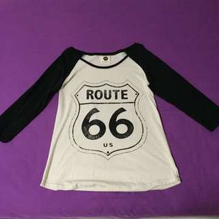 Route 66 3/4 Long Sleeved Shirt
